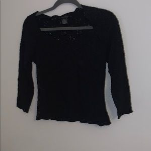 Lillie Rubin Ladies Black Floral Lace Blouse